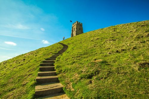 Photo of Glastonbury Tor, creative commons license courtesy of Needpix.com